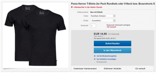 Puma T-Shirts aus 100% Baumwolle