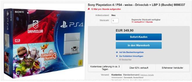 Sony PlayStation 4 mit Driveclub & LBP 3 im Bundle