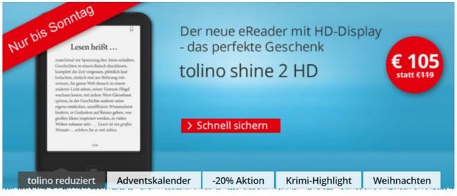 Tolino Shine 2 HD günstiger kaufen