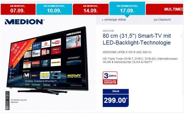 Medion Life X15016 (MD 30914) als ALDI-Nord-Angebot ab 17.9.2015 für 299 €