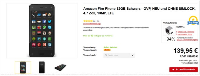 Amazon Fire Phone ohne SIM-Lock