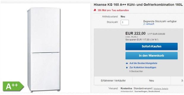 Hisense KG 160