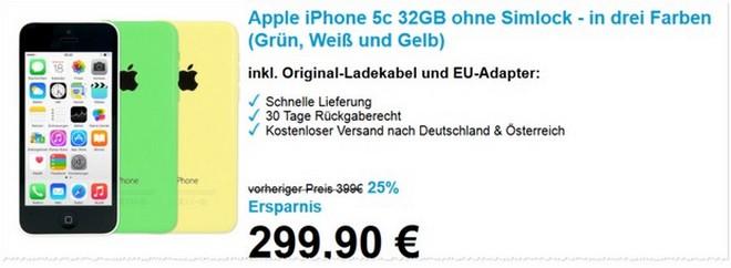 iPhone 5C mit 32 GB als B-Ware