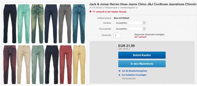 Jack & Jones Jeans im Angebot bei eBay