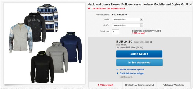 Jack & Jones Pullis bei eBay