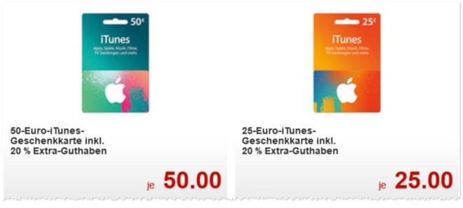 Kaufland: iTunes-Karten mit Rabatt