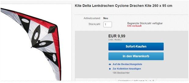 Lenkdrachen im XXL-Format für 9,99 €
