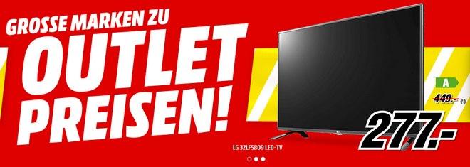 Media Markt Outlet aus der Media-Markt-Werbung »Große Marken zu Outlet-Preisen«