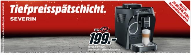 Media Markt Tiefpreis-Spätschicht mit Severin Kaffeevollautomat