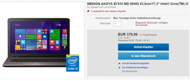 Medion Akoya E7416 (MD 99460)