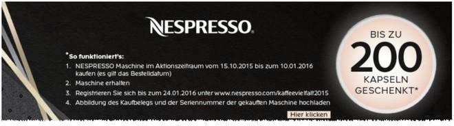 Nespresso Kapseln geschenkt