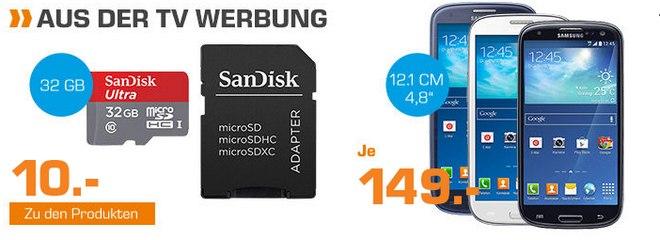 Samsung Galaxy S3 Neo für 149 € als Saturn-Angebot bis Montag, 12.10.2015, aus der TV-Werbung
