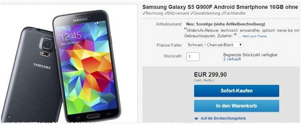 Samsung Galaxy S6 als B-Ware unter 300 €