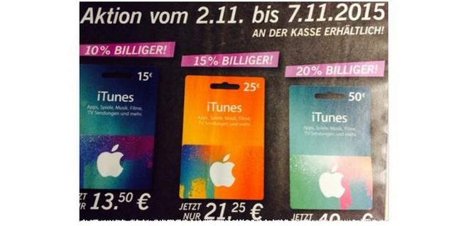 LIDL iTunes Rabatt 2015