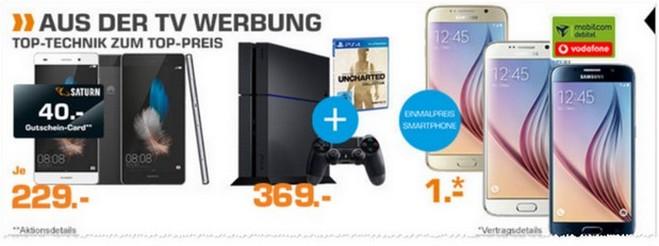 Saturn-Angebote am 26.10.2015 mit PS4 Bundle