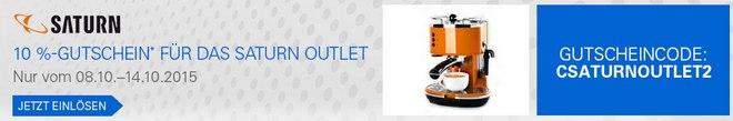 Saturn Outlet Gutschein fürs Online-Outlet bei eBay: 10% PayPal-Rabatt vom 8.10.2015 bis 14.10.2015