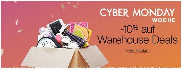 Amazon Warehousedeals Gutschein 2015: 10% Extra-Rabatt auf B-Ware zur Cyber Monday Woche