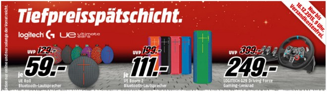 Media Markt Tiefpreisspätschicht ab 15.12.2015