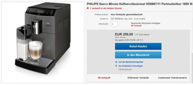 Philips Saeco Minuto HD8867