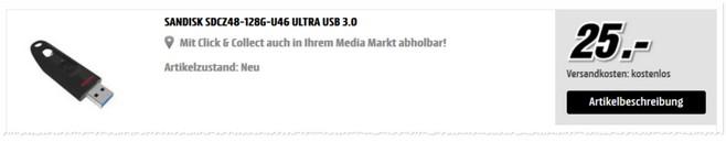 günstige SanDisk USB Sticks Ultra 128GB
