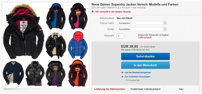 Superdry Damen Jacken bei eBay