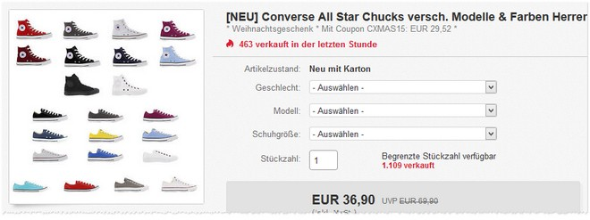 Converse Taylor All Star Chucks unter 30 Euro