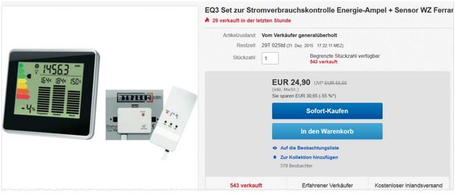 EQ3 Energie-Ampel + Sensor
