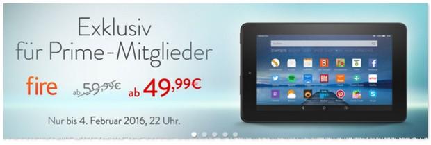 Fire Tablet für Prime Kunden günstiger
