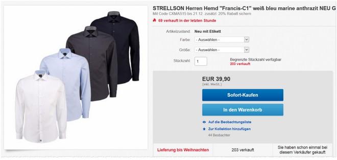 Strellson Hemden