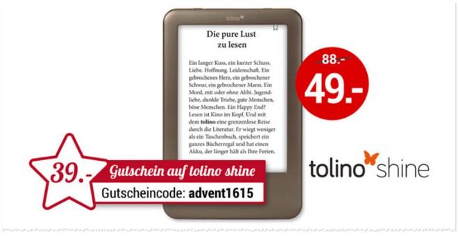 Tolino Shine bei Weltbild für 49 €