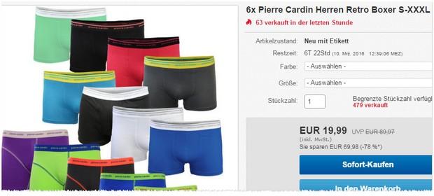 Pierre Cardin Boxershorts