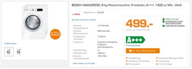 Bosch Waschmaschine WAW 28550