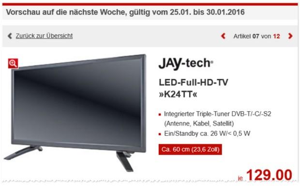 Jay-Tech K24TT Fernseher