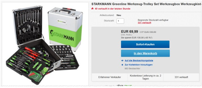 Starkmann Greenline Werkzeug-Trolley