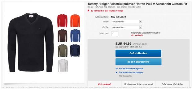 Tommy Hilfiger V-Neck-Pullis im Angebot