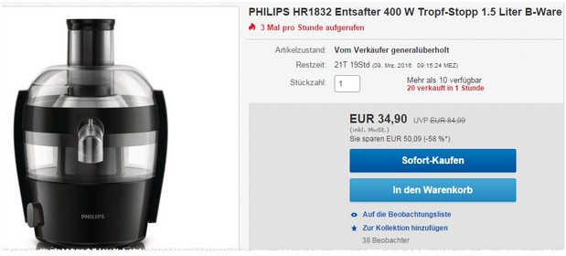 Philips Entsafter