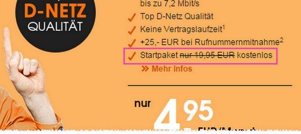 callmobile Handytarif clever SMART 400 für 4,95 € ohne Laufzeit