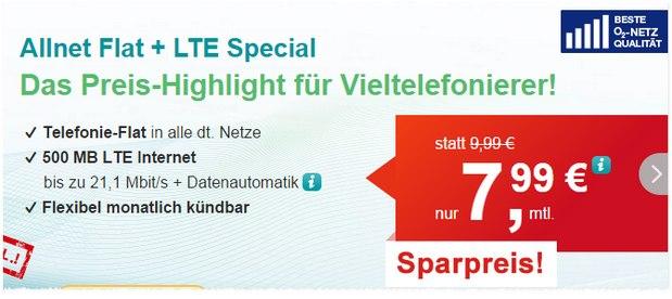 helloMobil Allnet-Flat + LTE für 7,99 €