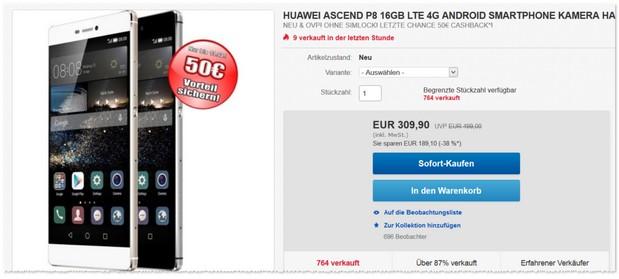 Huawei P8 ohne Vertrag