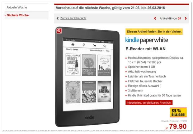 Kindle Paperwhite als Kaufland Angebot