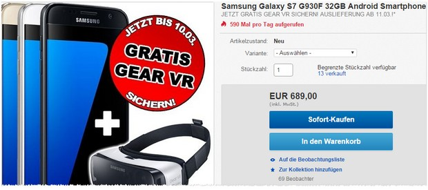 Samsung Galaxy S7 ohne Vertrag