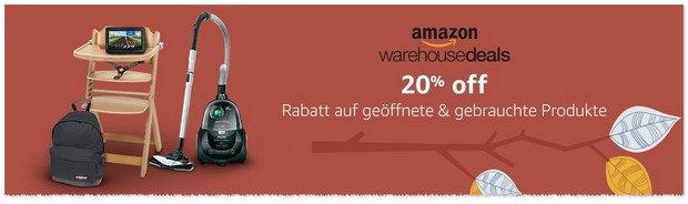 Amazon Warehousedeals Aktion im September 2016 - Gutschein-Rabatt automatisch