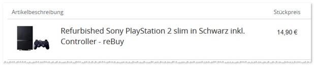 PlayStation 2 Modell im Gebraucht-Zustand (B-Ware)