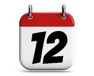 12. Tag des Monats