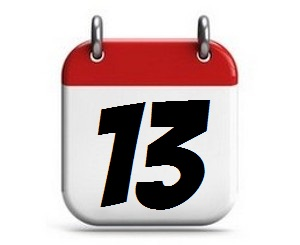 13. Tag des Monats