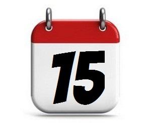 15. Tag des Monats