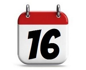 16. Tag des Monats