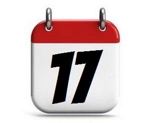 17. Tag des Monats