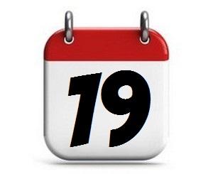 19. Tag des Monats