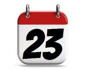 23. Tag des Monats